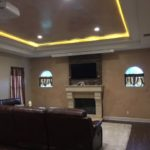 Recessed Ambient lighting in this media room addition
